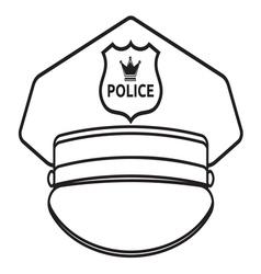 Police cap2 vector