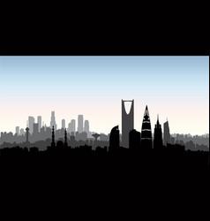 riyadh city skyline cityscape silhouette with vector image vector image