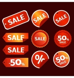 sale tag set vector image vector image