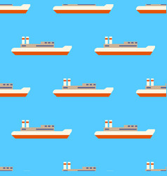 seamless sea pattern with sailing ships isolated vector image