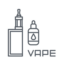 simple set of vape related line icons vector image vector image