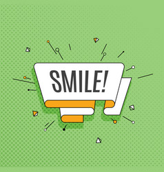 smile retro design element in pop art style on vector image vector image