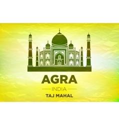Taj mahal india seven wonders concept vector