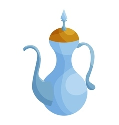 Traditional arabic coffee mug icon cartoon style vector