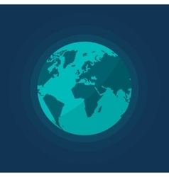 Earth globe from space isolated vector image