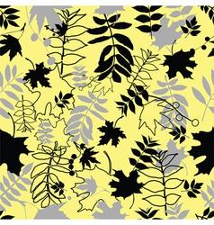 seamless black leaves vector image