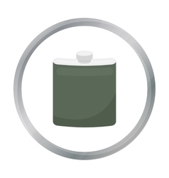 Hip flask icon in cartoon style isolated on white vector