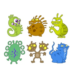 cartoon germs vector image