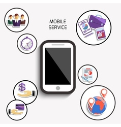 Concept of mobile services for business vector