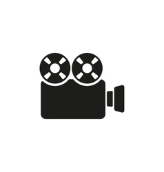 The video camera icon camcorder symbol flat vector
