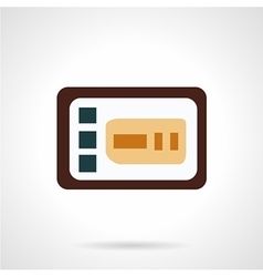 Control panel flat icon vector