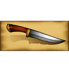 Vintage knife vector