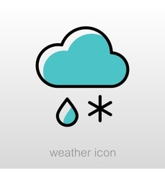 Cloud snow rain icon meteorology weather vector