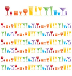 Assorted bar glasses vector