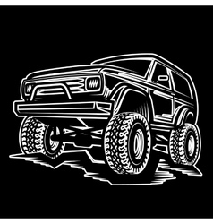 Car off-road 4x4 suv trophy truck vector