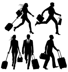 airport silhouettes vector image