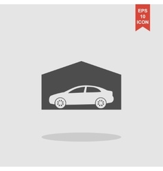 Car garage  flat design style vector