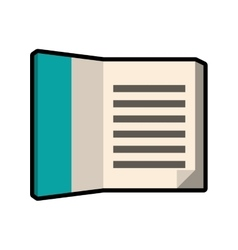 Book icon reading and learning design vector