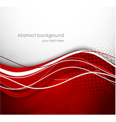 Abstract wavy red background vector image vector image
