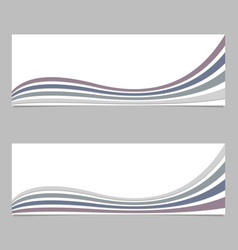 Banner design from wavy stripes - vector
