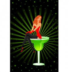barmaid diva vector image vector image