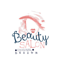 Beauty salon logo original design label for hair vector
