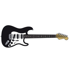 Black electric guitar vector image