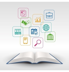 Business education book concept vector image