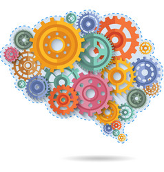 Color Gears Of Brain vector image
