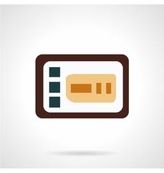 Control panel flat icon vector