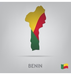 country benin vector image
