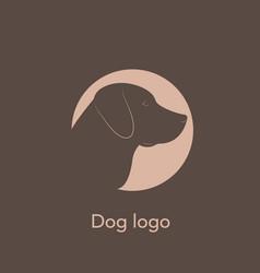 dog labrador logo vector image vector image