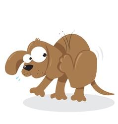 Doggie and fleas vector