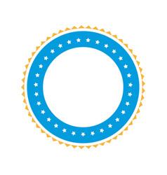 emblem star stamp sticker blank design vector image