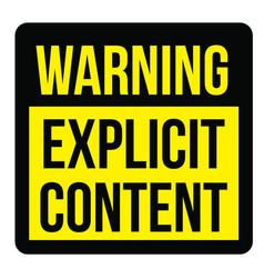 Explicit content sign vector