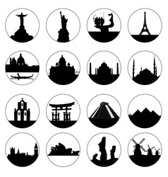 famous places of the world vector image vector image