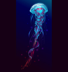 fantasy glowing jellyfish vector image vector image
