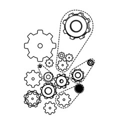 Figure gears signs icon vector