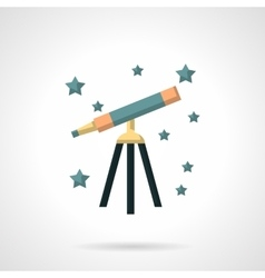 Flat color style astronomy icon vector