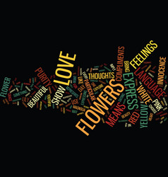 Flowers language text background word cloud vector