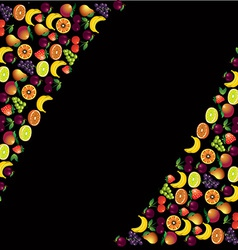 Fruits abstract composition food theme background vector