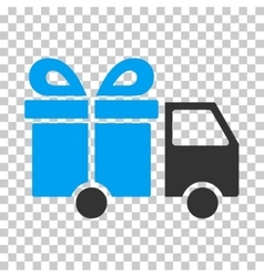 Gift delivery van eps icon vector