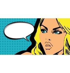 Girl comics vector image vector image