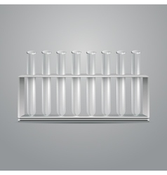 glass laboratory test tubes vector image