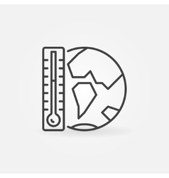 Global warming icon vector