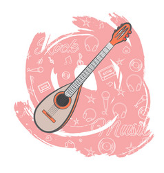 Guitar rock music-03 vector