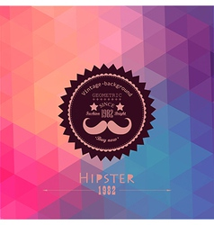 Hipster background made of triangles Retro label vector image vector image