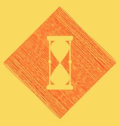 Hourglass sign red scribble vector
