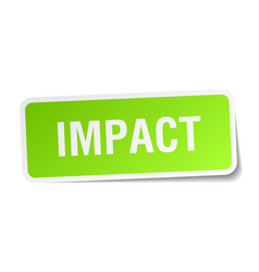Impact square sticker on white vector