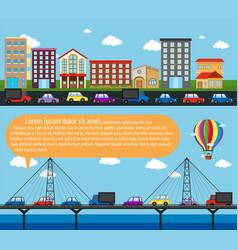 Inforgraphic city scene with roads vector